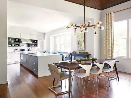Designer Marcelle Guilbeau suggests perusing magazines or Pinterest to help determine your design preferences for a dining space.