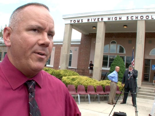 Toms River Board of Education member Dan Leonard at Toms River High School South in June.