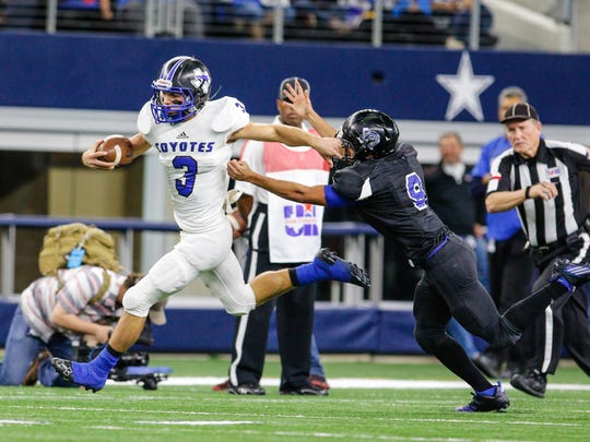 Richland Springs won the 2016 Class 1A Division II state championship on Dec. 14, 2016. It was a state-record tying eighth state championship for the Coyotes football program. San Angelo Standard-Times Staff Photo