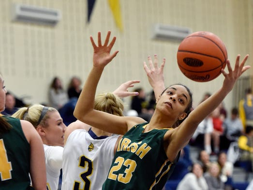 York Catholic's Jania Wright recovers the ball against