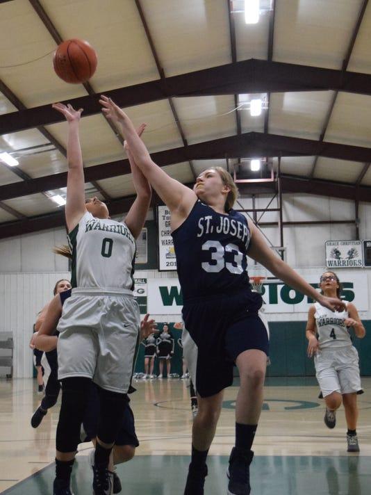 Grace Christian School girls' basketball hosted St. Joseph School Tuesday, Feb. 20, 2018. Grace Christian won 68-25.