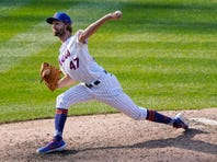 New York Mets relief pitcher Chasen Shreve delivers during the ninth inning of a baseball game against the Philadelphia Phillies, Sunday, Sept. 6, 2020, in New York. (AP Photo/Kathy Willens)