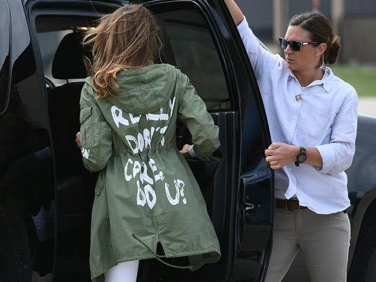 Sometimes a jacket isn't just a jacket. First lady