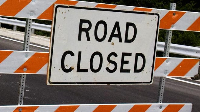 Road closed (File, The Courier-Journal)