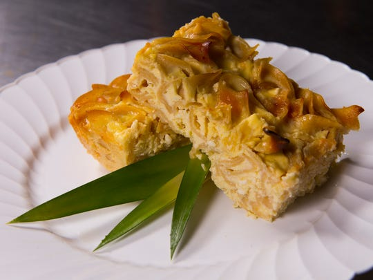 Amy Ferrante's noodle kugel has apricot preserves and pineapple.