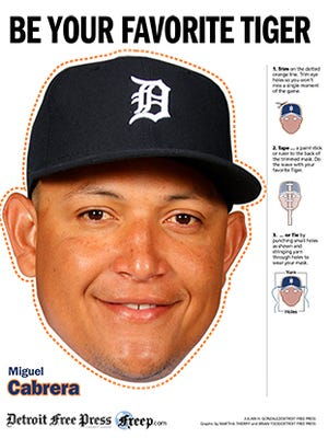 2015 Detroit Tiger Masks