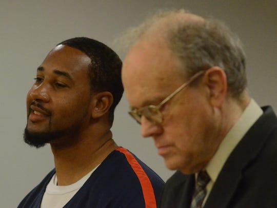 Shawn McKnight with his attorney Daniel Bremer.
