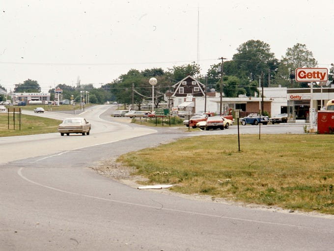 Getty Gas Station in Dover, 1974.