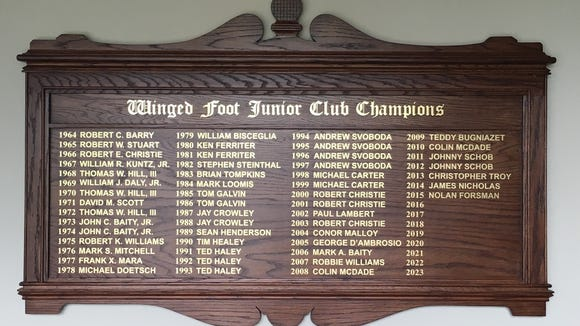 Mark Loomis is part of the history of Winged Foot, winning the junior club championship in 1984.
