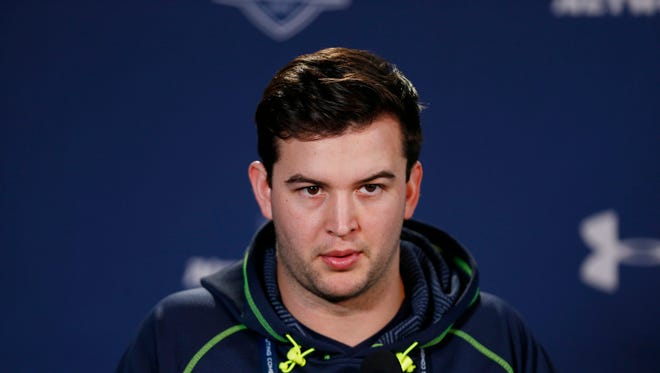 Quarterback A.J. McCarron spoke to the media in a Feb. 21 press conference during the 2014 NFL Combine in Indianapolis.