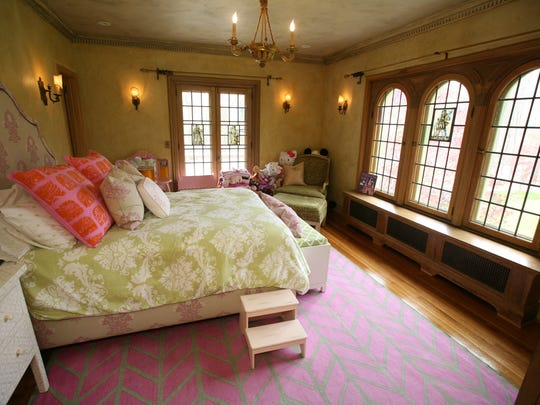 One of the bedrooms in this 1932 Tuscan style villa for sale in Croton-on-Hudson photographed, May 6, 2014. The home has 3 bedrooms and 4 1/2 baths.