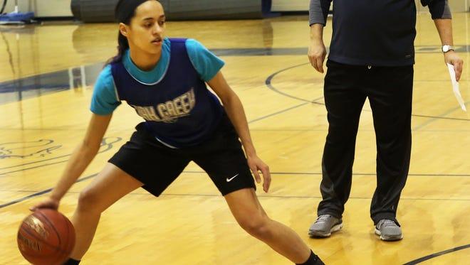 Guard Kassandra Bartek will help lead Oak Creek, which has a 70-game conference winning streak.