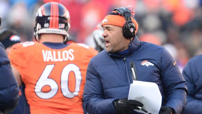 Denver Broncos running back coach Eric Studesville.
