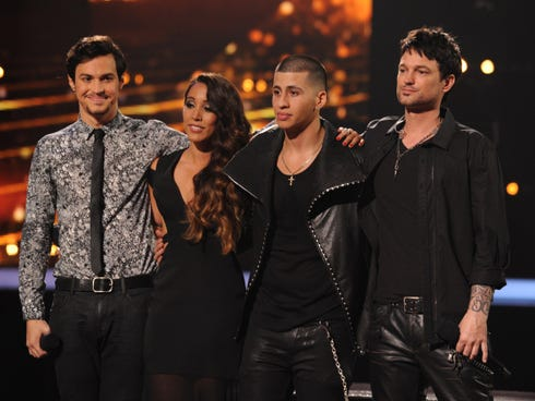 From left: Alex and Sierra, Carlito Olivero and Jeff Gutt.