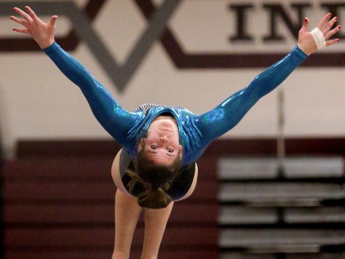 Menomonee Falls/Germantown's Skylar Kennedy competes