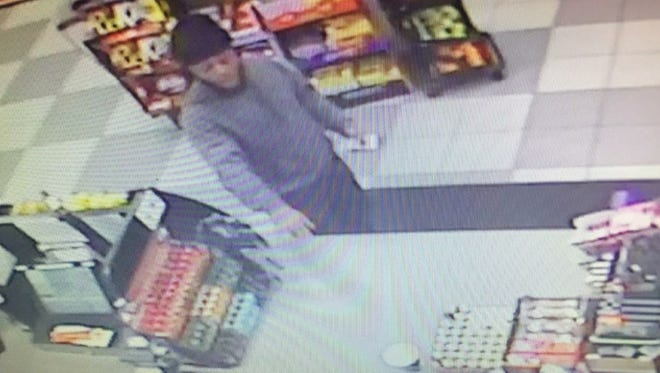 The New Jersey State Police are seeking the public's help in identifying this man who allegedly assaulted a gas station attendant at the Colonia Service Area on the Garden State Parkway this month.