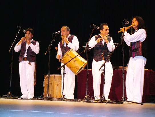 The members of Grupo Inkhay, all hailing from Ecuador,