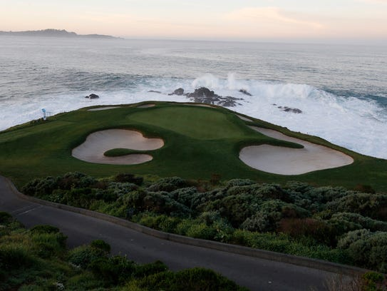 The 7th hole at Pebble Beach is the shortest hole on