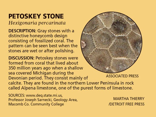 Facts about Michigan's state stone