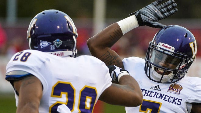 Former Western Illinois Lance Lenoir, right, has signed with the Seattle Seahawks.