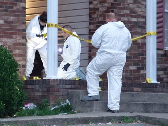 Yellow markers indicate possible evidence to be collected