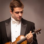 At 5 p.m. Sunday, virtuoso violinist Will Hagen performs at the Main Street Theater.