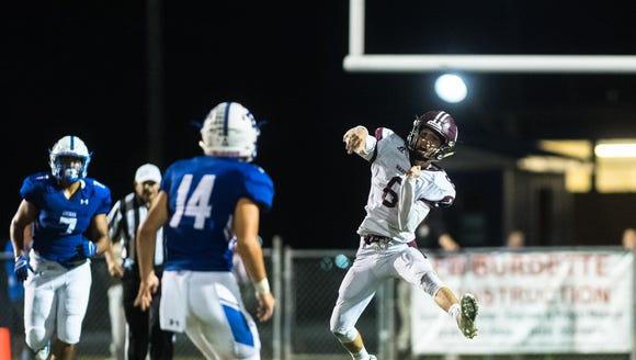 Owen high school's Audun Meyers makes a pass during