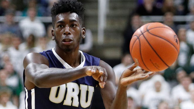 Oral Roberts guard Kris Martin, shown during a Dec. 3 game at Michigan State, said he's transferring to CSU for his final two seasons. Martin averaged 13.2 points a game this past season.