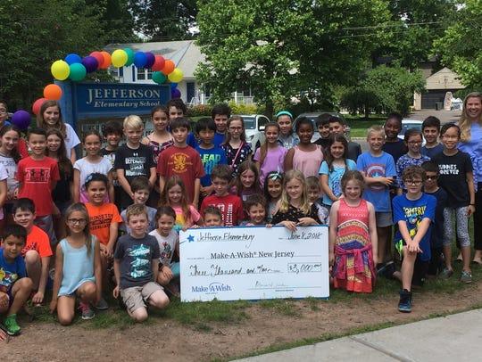 The Jefferson School community recently raised $3,000