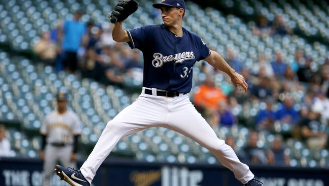 Brewers starter Brent Suter will try and shut down the Cubs on Saturday afternoon.