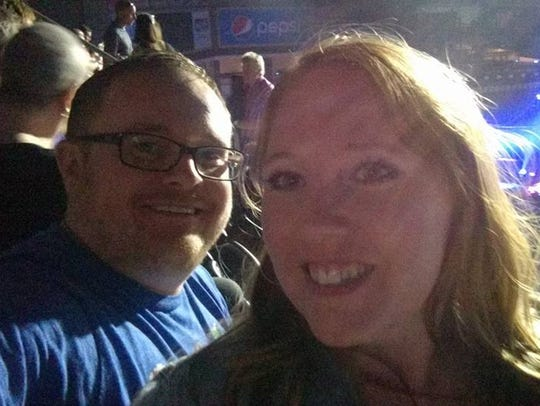 Tammy and I before the Paul McCartney concert in Sioux