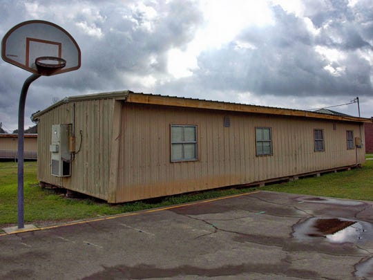 """59% of """"temporary"""" classrooms across Lafayette, like this one at Ossun Elementary, will be replaced with a """"yes"""" vote April 29."""