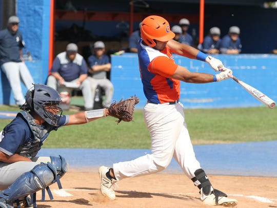 San Angelo Central High School's Oscar Nino went 1-for-3