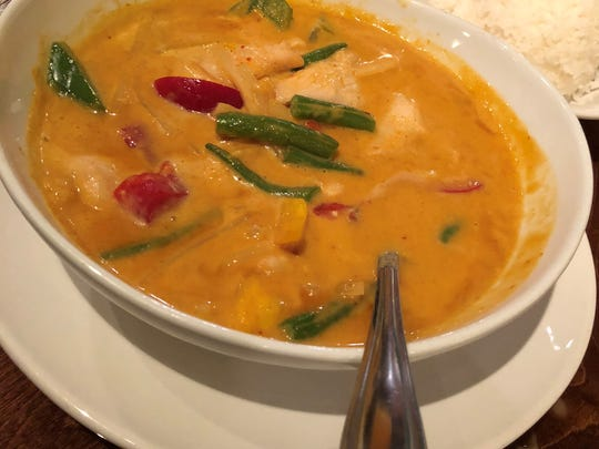 The red curry dish at Thai Sushi by KJ on Collier Boulevard, Marco Island.