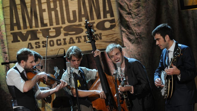 Punch Brothers perform at the 11th annual Americana Honors & Awards at The Ryman Auditorium in Nashville in 2012.
