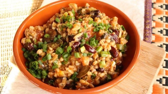 Farro and Mixed Vegetable Jambalaya