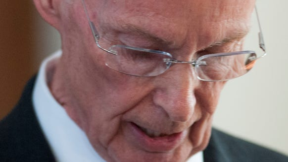 Governor Robert Bentley resigns at the state capitol