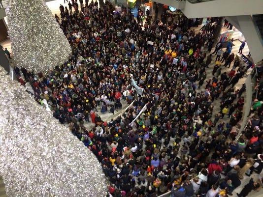 Black lives matter protest at MOA