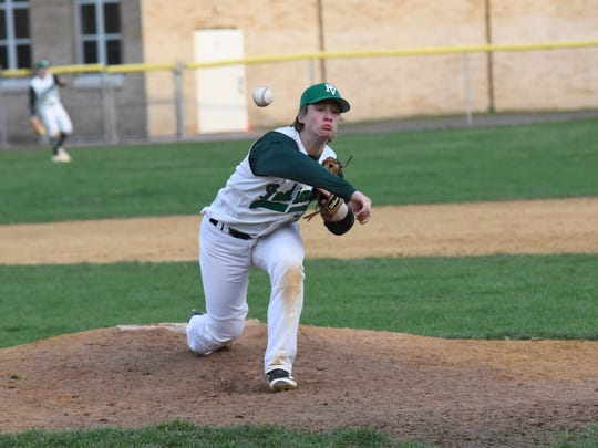 Pascack Valley pitcher Jordan Issackedes earned his eighth win of the 2017 season in the North 1, Group 3 final.