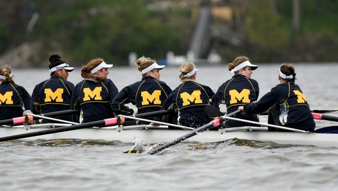 The Michigan rowing team was back on the water Thursday after Wednesday's  near-miss.