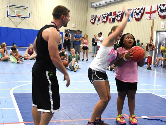 Basketball was a featured activity at Camp Quality NJ