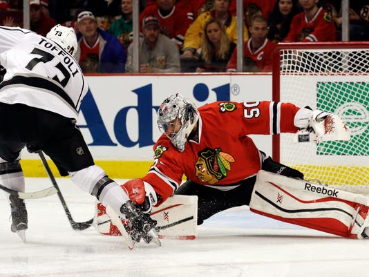 NHL Blackhawks Kings Game 1 2014