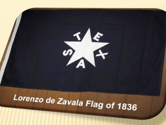 """The Zavala Flag is traditionally referred to as """"The First Flag of Texas."""""""