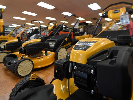 Club Cadet lawnmowers are seen on display at Southland