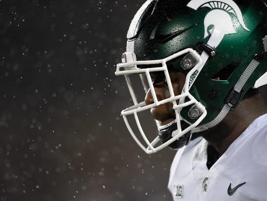 David Dowell #6 of the Michigan State Spartans looks