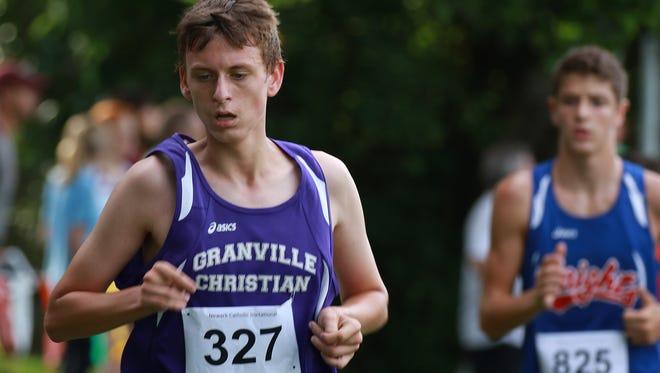 Granville Christian sohomore David Blacksten competes in the Newark Catholic Invitational this past Saturday.