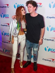Bella Thorne and Charlie Puth in 2016.