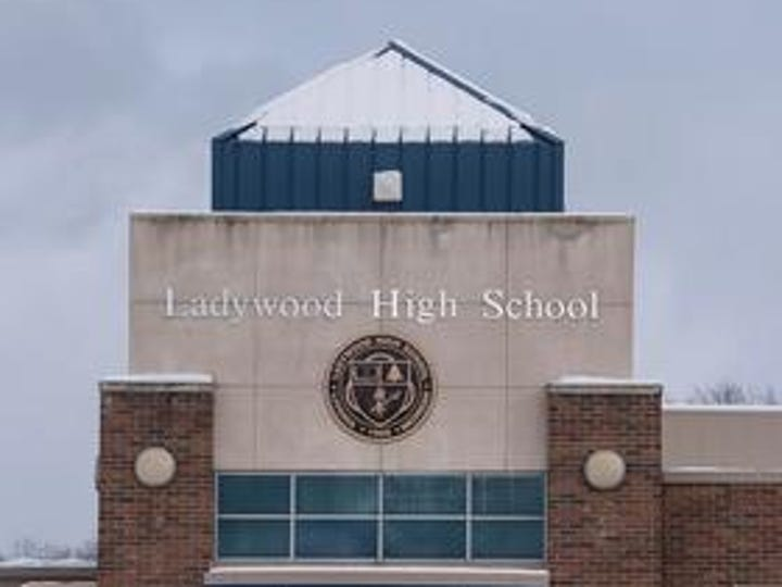 The entrance to the former Ladywood High School.