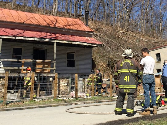 Firefighters responded to a fire at 838 Owl Valley