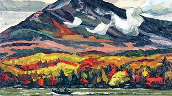 "Michael Vermette's artwork ""Homeward Bound Katahdin Lake"""